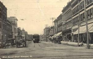 PostcardKewaneeILWestSecondStreet1908