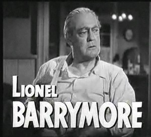 "Lionel Barrymore in the 1948 trailer for the film ""Key Largo"""