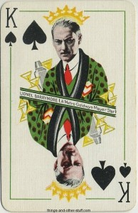 15 lionel barrymore playing card