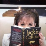 jackie collins with book